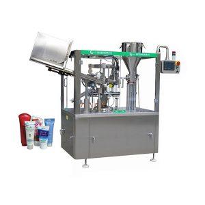 Máquina de enchimento e selagem automática de tubo de pomada de pele macia
