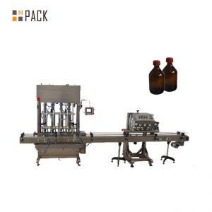 Máquina tampando plástica da tampa de garrafa do ANIMAL DE ESTIMAÇÃO automático do capsulador do eixo