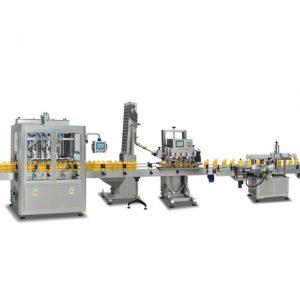 Máquinas automáticas de envase de garrafas sus304 2 em 1 completas para fazer azeite