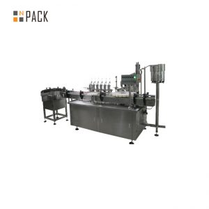 Máquina de etiquetas tampando de enchimento líquida personalizada do conta-gotas de vidro e para o líquido do cigarro e