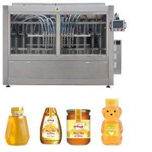 Tipo de pistão servo automático Molho de mel Jam Alta viscosidade Líquido de enchimento Capping Machine Line