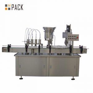 Máquina tampando automática do enchimento da garrafa do conta-gotas da gota do olho de 10ml 15ml 30ml e-líquido